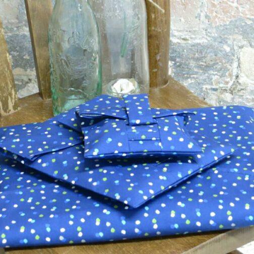 Blue Spotty Wrap