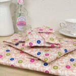 Peach Floral Fabric Wrap
