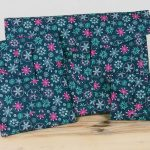 Black Snowflake – Christmas Wrapping Paper