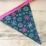 Black Snowflake – Christmas Bunting