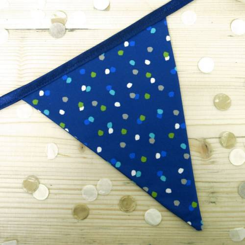 Single flag of Blue Spotty Bunting