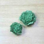 Green Fabric Flowers
