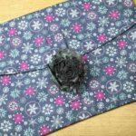 Grey Fabric Flowers