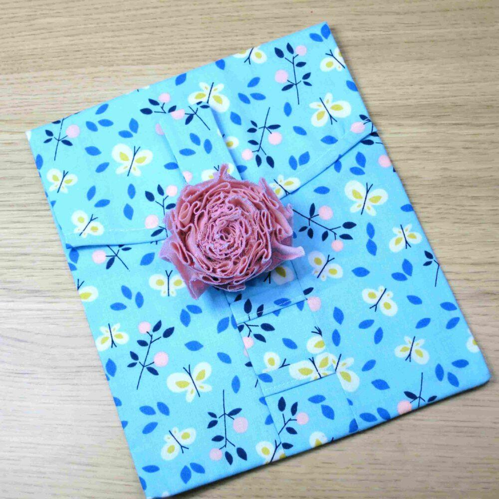 Large pink flower on Medium gift wrap