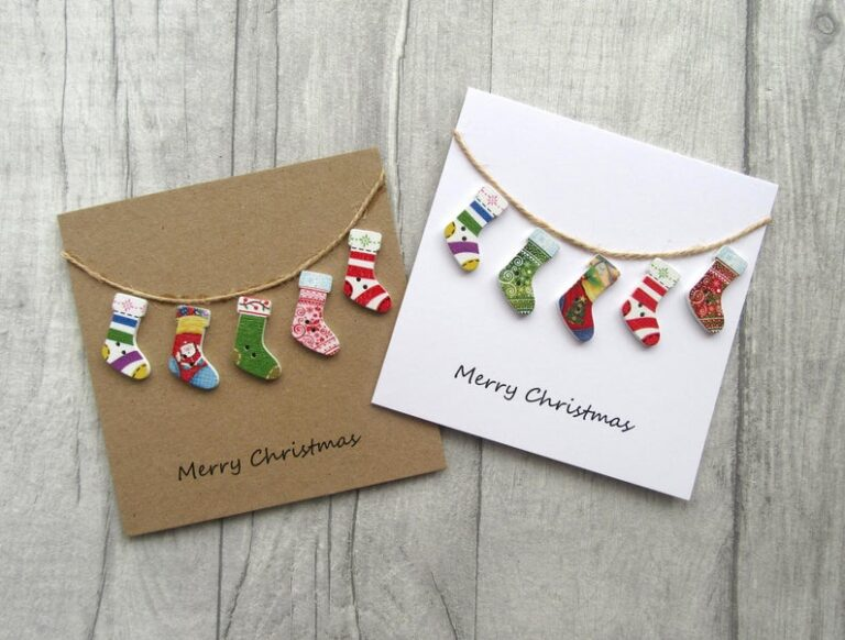 Handmade cards featuring stockings by The Sewn by Sarah shop on Etsy