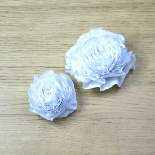 White Fabric Flowers